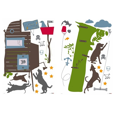 Roommates Boys Tree Cabin Decal
