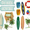 Close up of the Beach Surf Wall Decals
