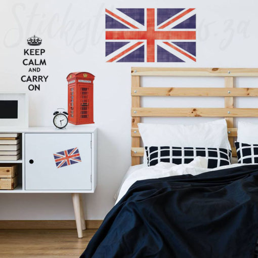 British Flag Wall Sticker in a Bedroom
