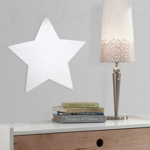 Peel and Stick Star Mirror Wall Art in a Kids Bedroom