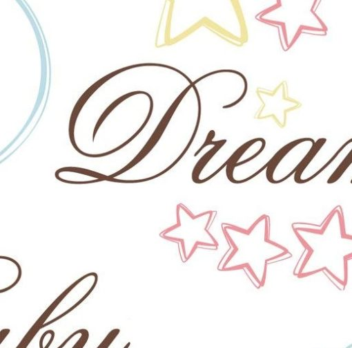 Close up of the detail in the Baby Sweet Dreams Wall Vinyl