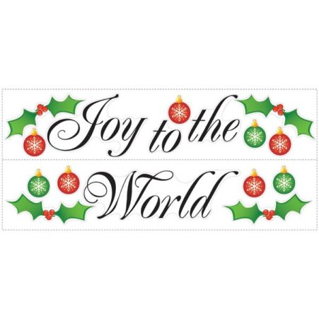 Peel and Stick Joy to the World Wall Sticker Sheets