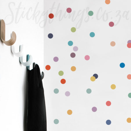 Muted Rainbow Polka Dot Decal
