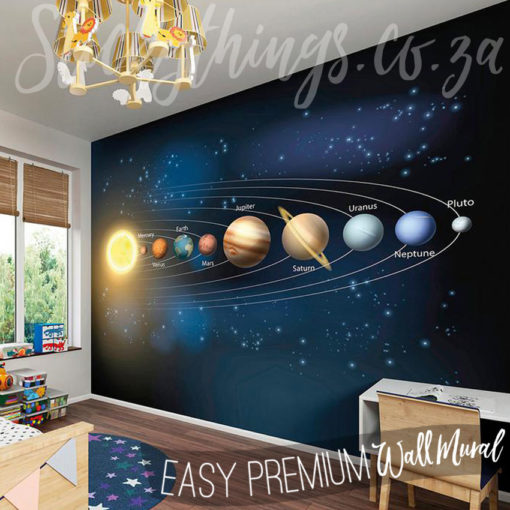 Planet Wall Mural in a childs bedroom
