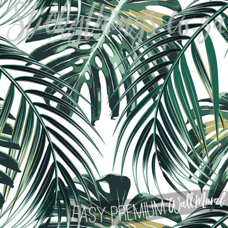 Close up of the detail in the giant Tropical Palm Leaf Mural