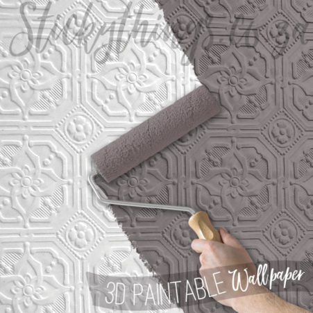 Hand painting the Derby 3D Embossed Paintable Wallpaper