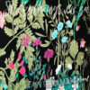 Close up of the Flowers Charcoal Background Wall Mural