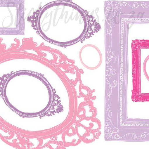 Close up of the detail in the Purple and Pink Frame Wall Art