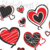 Close up of the patterns in this Valentines Wall Decor Ideas