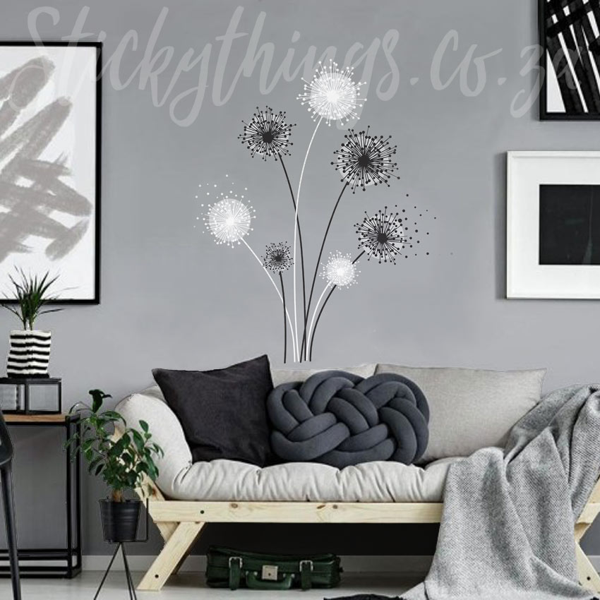 Dandelion Wall Decal - Peel and Stick Giant Dandelion Wall ...