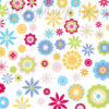 Close up of the funky Flower Power Wall Art Stickers